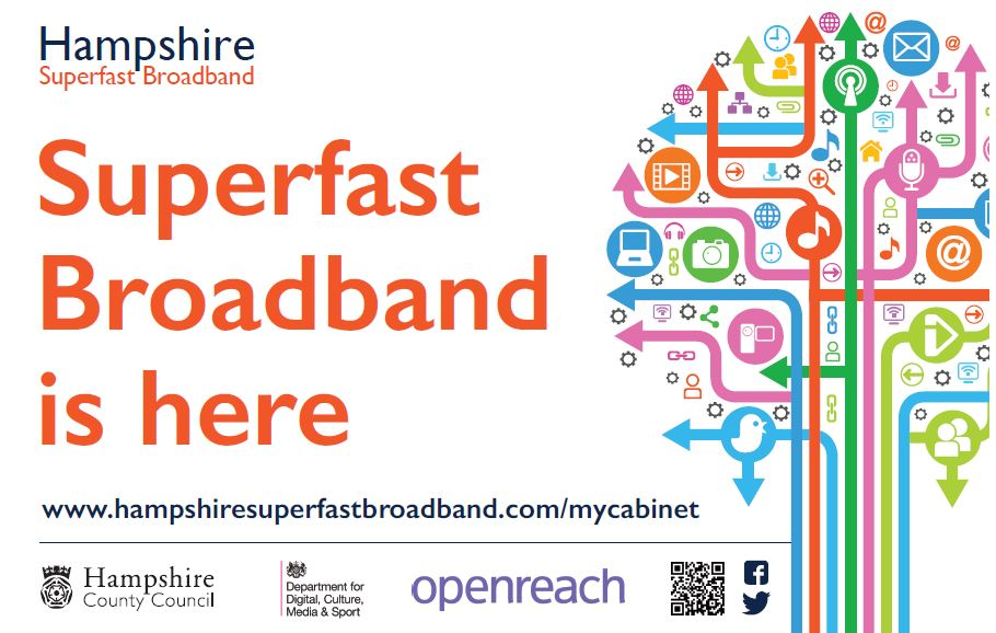 Have you seen a Hampshire Superfast Broadband Sticker?