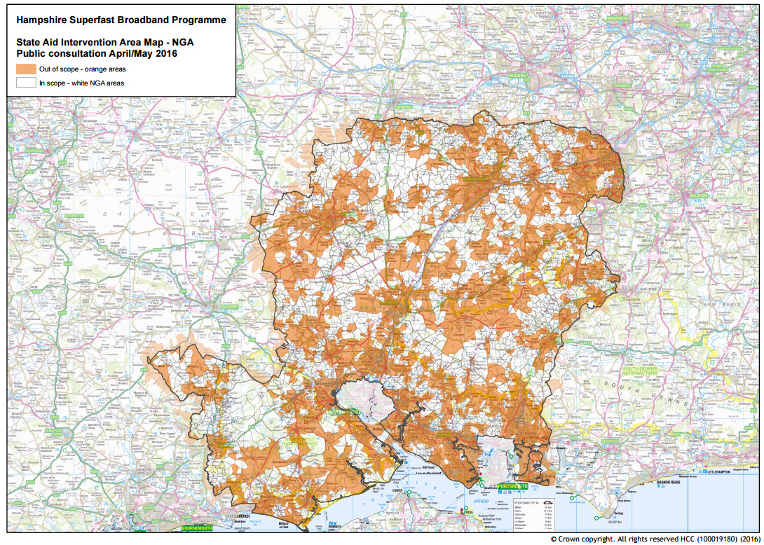 State Aid Public Consultation · Hampshire Superfast Broadband